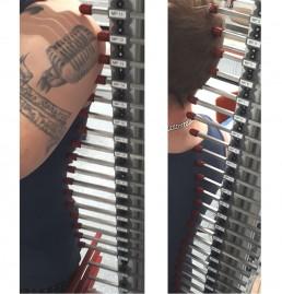 Vertical spline measuring device detail