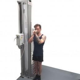 Vertical spline measuring device