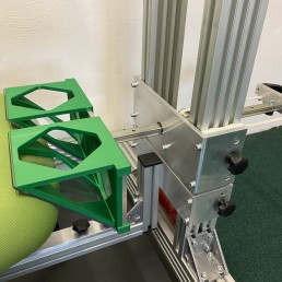 Chair front load locator device